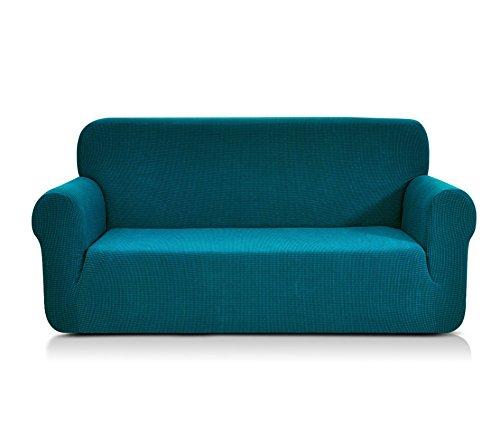 CHUN YI 1-Stück Jacquard Sofaüberwurf, Sofaüberzug, Sofahusse, Sofabezug für Sofa, Couch, Sessel, mehrere Farben (Dunkeltürkis, 4-sitzer)