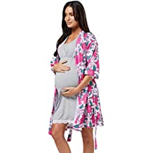 HAPPY MAMA Mujer Maternidad Impreso Hospital Bata Sin Botones 629p