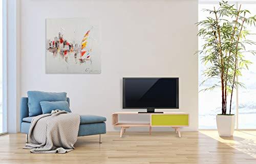 One Couture Lowboard Buffet Armoire Tv Meuble de Télé Table de Télévision Tv-Table Frêne Vert