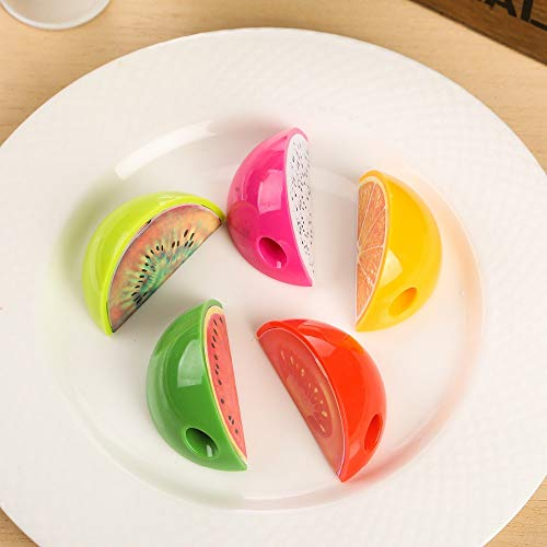 YWEHAPPY 24pcs Zurück Zur Schule Frucht-Stil Stil Bleistift Sharpener Baby-dusche Begünstigt Souvenirs Kinder Geburtstagsfeier Geschenk Für Mädchen Junge