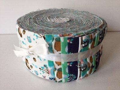 43pièces Jelly Roll–Woodland animaux–Tissu Patchwork quilting Bundle–Ffjr07pièces–6cm x 110cm (6,3x 111,8cm) quilting pièces