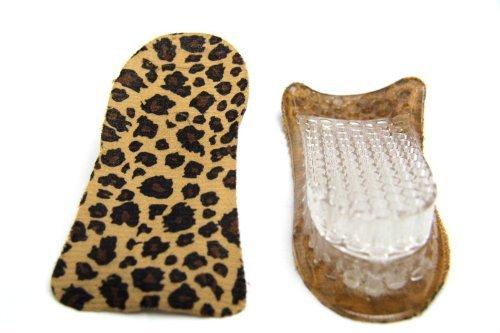 FreshGadgetz 1 Paio di Solette in silicone gel effetto tacchi per uomo e donna (Pelle di leopardo)