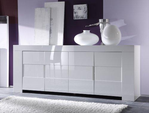 #Sideboard Eos 4-türig, 210 x 84 x 50 cm, weiß hochglanz#