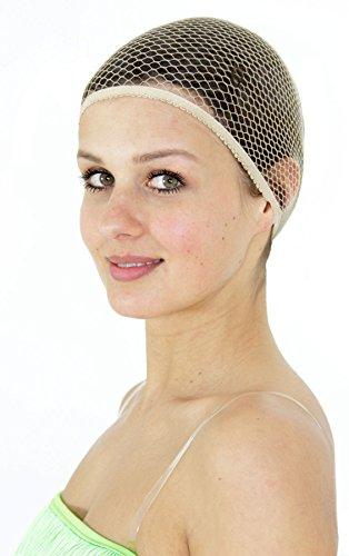 Foxxeo Premium Haarnetz für Damen und Herren Haarhaube für Perücke Perücken zum Karneval Fasching Halloween Kostüm