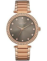 Caravelle New York Rose Gold T Bar reloj de mujer de cuarzo con Esfera Analógica Gris y Oro Rosa Pulsera 44l211