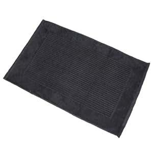 Homescapes Tapis de Bain Uni 100% Coton Turc Imperial 50 x 80 cm - Noir – Tapis Salle de Bains Extra Doux – Tapis Douche