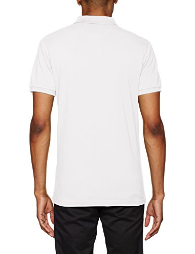 HACKETT LONDON Herren Poloshirt Classic Logo Weiß (Winter White)