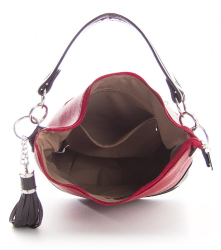 Big Handbag Shop, Borsa a spalla donna One Navy Blue