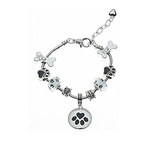 Jewelry- perro los amantes bracelet- perro propietario de huellas de perro encanto pulsera-pulsera-regalo perfecto para los amantes del perro