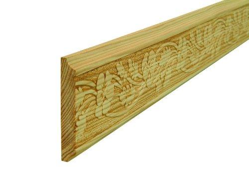 Pr/ägeleiste Schnitzleiste Profilleiste Zierleiste Abschlussleiste Bastelleiste aus gepr/ägtem Kiefer-Massivholz 1000 x 45 x 7 mm