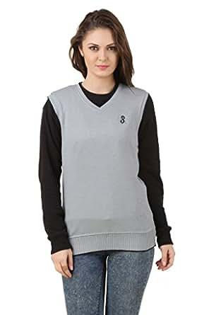 Eprilla Women's Woollen Blend Grey Sweater Size - 46