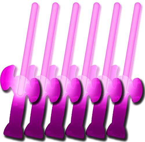 6 Knicklichter Schwerter PINK (5 kaufen + 1 ()