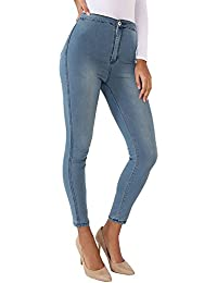 Envious Fashion Outlet EnviousFashion New Womens Plus Size High Waisted Skinny Fit Stretch Jeans Jeggings