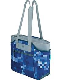 Alfi 0007.803.812 isoBag M 2 teilig 23 l Kühltasche und Shopper Polyester 57 x 38 x 50 cm, blue square