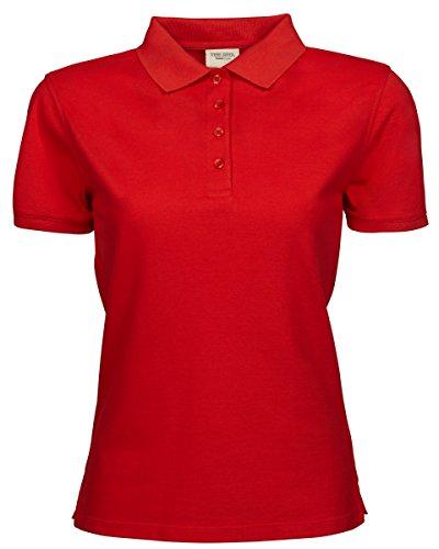 Tee Jays Ladies Heavy polo Red