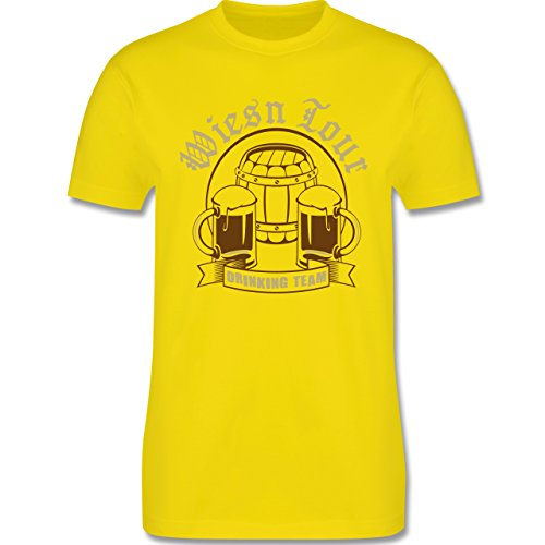 Oktoberfest Herren - Wiesn Tour Drinking Team - Herren Premium T-Shirt Lemon Gelb