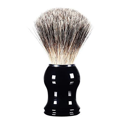 Dtuta Herren Metallharzgriff BartbüRste Sauber Und Effektiv Manuelle Gesichtsbehandlung Trocken TäGliche Reinigung Der MäNner