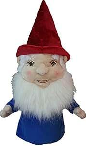 Daphne's Couvre-club Driver de golf de gnome fantaisie, mixte, Gnome, rouge/bleu