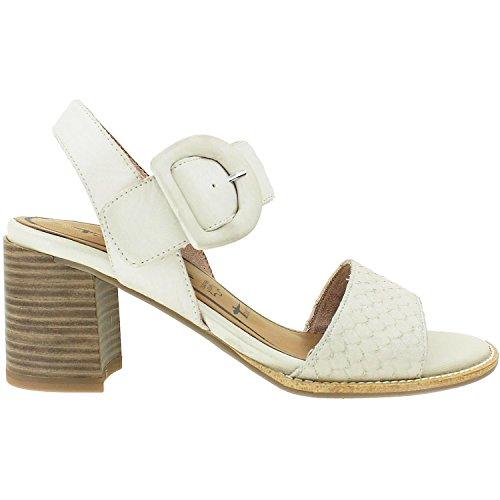 Tamaris Schuhe 1-1-28314-28 bequeme Damen Sandalette, Sandalen, Sommerschuhe für modebewusste Frau, Elfenbein (CLOUD), EU 39