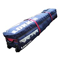 LOKKER Wheelie Team Snowboard Travel Bag,  fully padded carry split deck case for upto 2 snow boards and all your ski gear, with WHEELS.