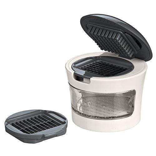 Lurch Knoblauchschneider, Kunststoff, Iron Grey/Weiß, 7 x 7 x 7 cm