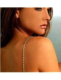 Mujer Diamante Cristal Unica Fila Correas Del Sujetador Tirantes Para Sujetador Un Par