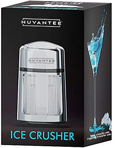 Nuvantee Eiszerkleinerer aus rostfreier Zinklegierung, Verchromte Oberfläche