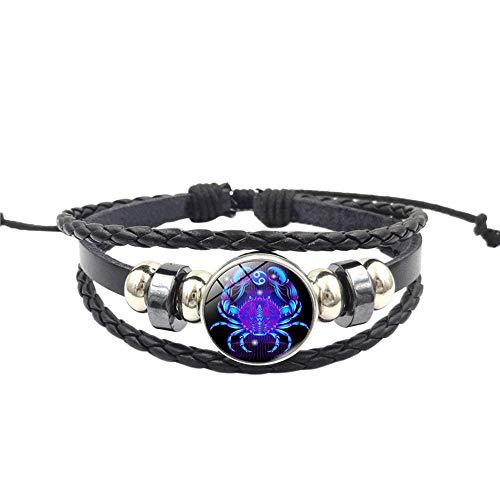 UINGKID Damen-Armband Charm Kreative Stilvolle Mode Frauen Sternbild Sternzeichen Anhänger Mehrschichtige Handgemachte ()