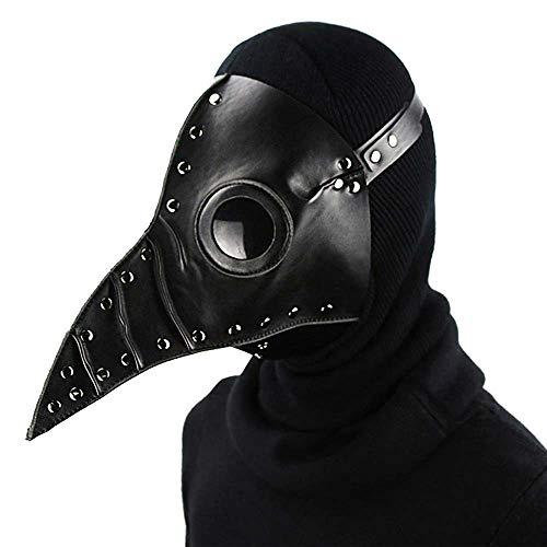 Halloween Masken Dekoration, Pest Long Bird Mund Doctor Dance Maske, 31Cm × 25Cm × 24Cm, Bühnen Performance Kleidung Mit Party Party Cosplay, Black