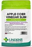 Lindens Cápsulas de vinagre de sidra de manzana para adelgazar | 84 Paquete | Contribuye a un metabolismo sano, una función tiroidea sana, reducción del cansancio y la fatiga