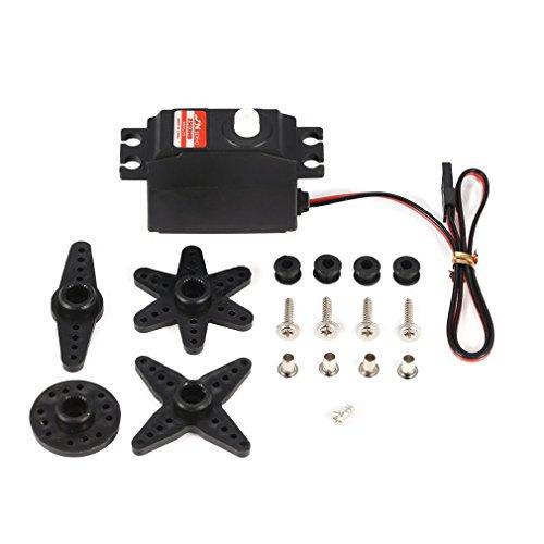 GreatWall JX PS-2503HB 3KG 4,8V-6V Analog Kunststoffgetriebe Mini Servo für 1/12 RC Car Schwarz