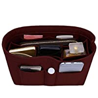 Felt Insert Bag Organizer Bag In Bag For Handbag Purse Organizer, 13 Colors, 3 Size (Small, Wine Red)