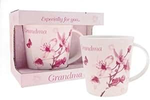 VINTAGE LANE CHINA MUG FOR GRANDMA WITH LOVE IDEAL GIFT