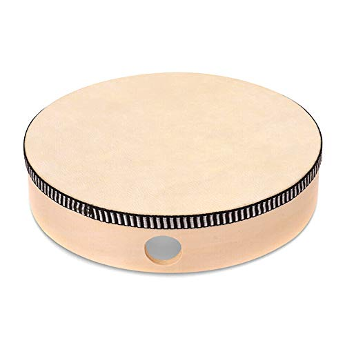 Unityoung Holz-Handtrommel Kinder Percussion Spielzeug Holzrahmen Trommel für Kinder Musikspiel