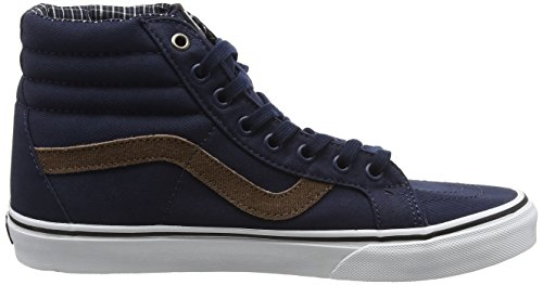 Vans Sk8-Hi Reissue, Scarpe da Ginnastica Alte Unisex – Adulto Blu (Cord & Plaid dress blues/true white)