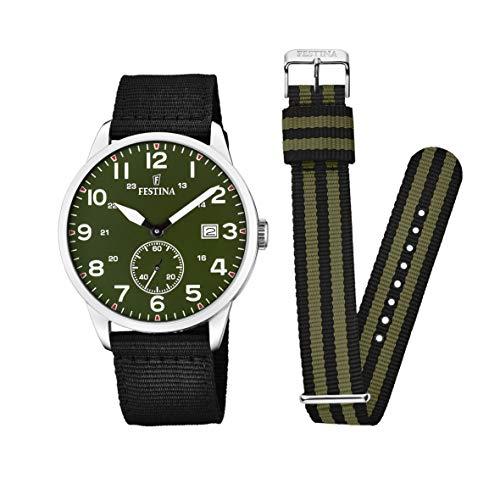 Festina Unisex Adult Analogue Classic Quartz Watch with Nylon Strap F20347/2