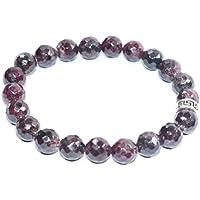 Bracelet Garnet Natural Diamond Cut 8 MM Birthstone Handmade Healing Power Crystal Beads preisvergleich bei billige-tabletten.eu