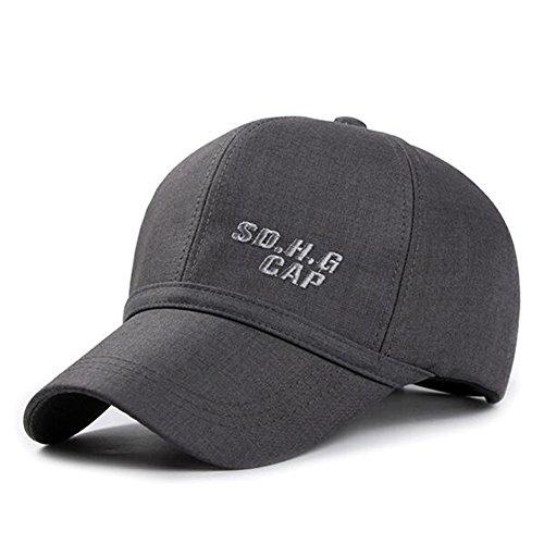 Baseball-Mütze/Sommer im mittleren Alter Bumao/Federkappe M/ Außen Sonnenhut Gezeiten/ Herbst und Winter Hut/Kopfbedeckungen für Männer-B verstellbar