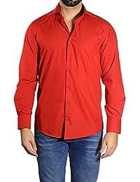 Muga chemise manches longues, Rouge
