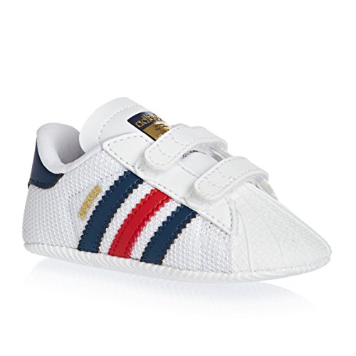 adidas Superstar Crib, Baskets Basses Mixte Bébé Multicolore - Blanco / Azul / Rojo (Ftwbla / Azusom / Rojexu)