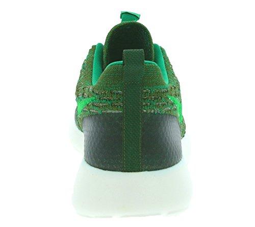 Nike Donna Wmns Roshe One Flyknit scarpe sportive Verde (Verde (Rough Green / Lcd Grn-Mc Grn-Sl))