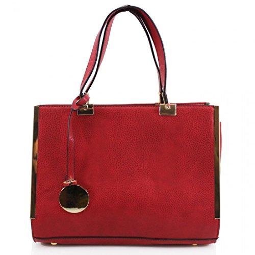 HB Style - Borsa sacchetto stile lusso Ragazza donna rosso