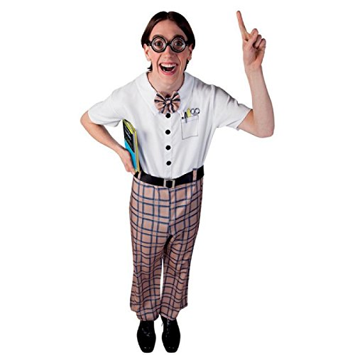 Boland 83602 - Erwachsenen Kostüm Nerd, Größe 50/52, Mehrfarbig