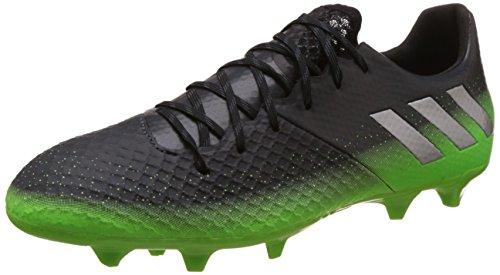 adidas Herren Messi 16.2 FG Fußballschuhe, Grau (Dark Grey/Silver Met./Solar Green), 42 EU (Rasen Sportartikel)