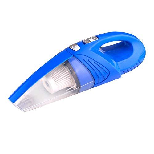 DOCJX Auto staubsauger tragbare 120 Watt 12 V ABS Material multifunktionale nass und trocken vakuumpumpe Test reifendruck Auto Hause staubsauger 39 * 6 * 7 cm (Color : Blau)