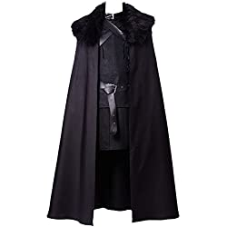 tianxinxishop Disfraz de Cosplay de TV de Halloween para Hombre Disfraz de Rey Knight Medieval Traje Capa de Guerrero Conjunto Completo Version 1, XXL