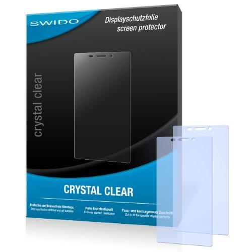 SWIDO Bildschirmschutz für Sony Xperia M2 [4 Stück] Kristall-Klar, Hoher Härtegrad, Schutz vor Öl, Staub & Kratzer/Schutzfolie, Bildschirmschutzfolie, Panzerglas Folie