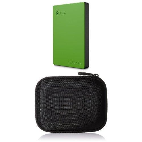 Preisvergleich Produktbild Seagate Game Drive für Xbox 2TB, grün (STEA2000403), USB 3.0 und AmazonBasics Festplattentasche, schwarz