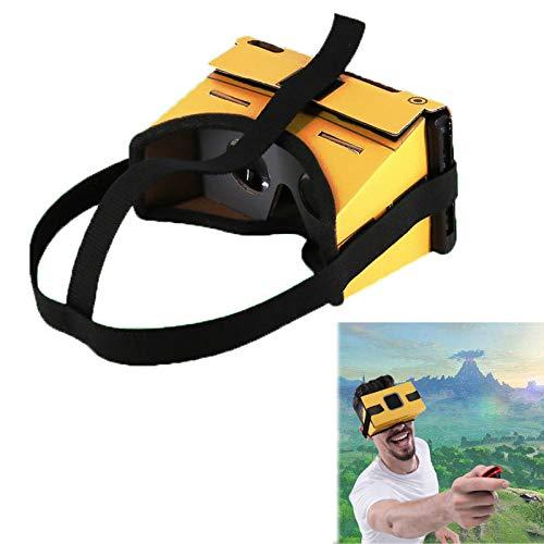 LICHIFIT Cartone Cartone pieghevole Occhiali VR per Nintendo Switch NS LABO VR con cinturino per auricolare