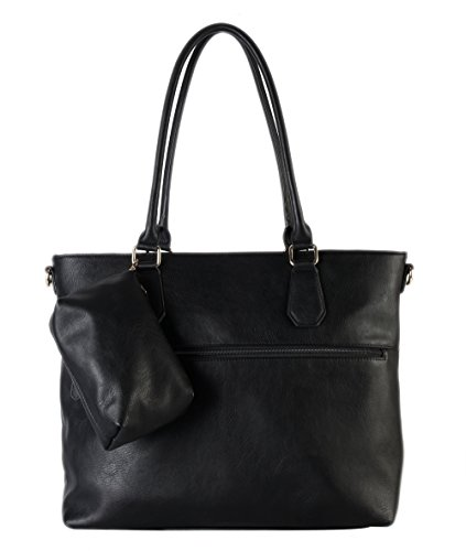 diophy-diaper-bag-pu-leather-weekender-extra-large-tote-with-baby-changing-pad-black
